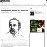 ARTICULO: Hostos Pertinente, precursor de la sociedad civil como actor político (80 grados, Prensa Digital)