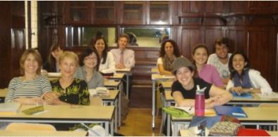 Parte del grupo con quienes compartí en mis clases de literatura francesa.