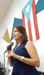 La Presidenta del MUS, Lcda. María de Lourdes Guzmán, inicia el evento Betances: Educación, Política y Arte.