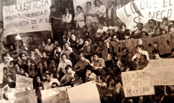 La manifestación de los rescatadores de Villa Justicia, en 1972, fue frente al Capitolio.